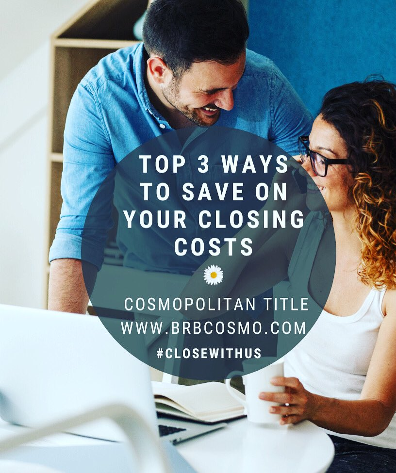 Most homebuyers dont know that there are things they can do to lower closing costs. Want to know more? Contact Cosmopolitan Title Agency, LLC today & close with us 🔑