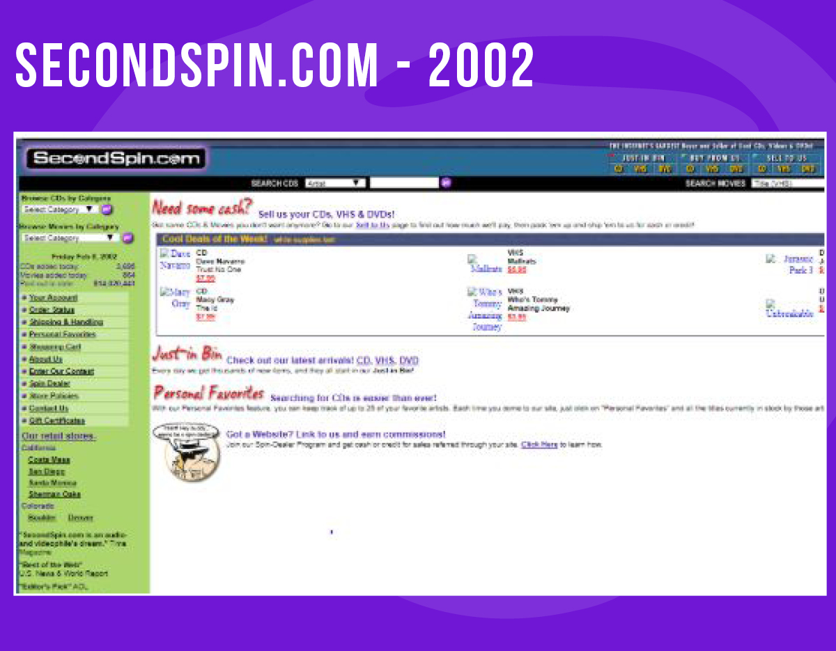 In 2002, we had some further updates, and opened 5 new stores! Which physical SecondSpin store was your favorite to shop?! https://t.co/CIrBGgCG06