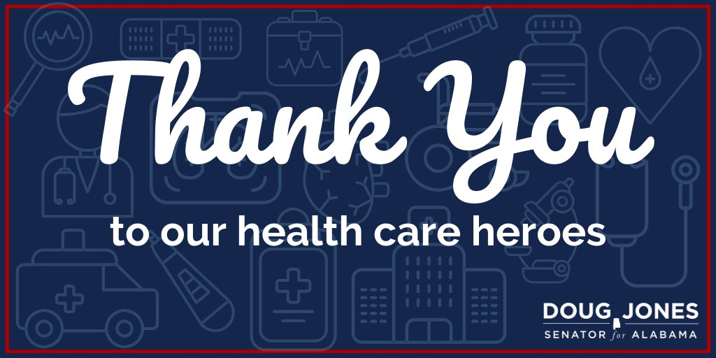 Thank you to all the doctors and health care professionals who risk their lives every day on the front lines of this pandemic. Alabama and our nation are eternally grateful for you. So folks, let's stay home so they can stay safe! #NationalDoctorsDay