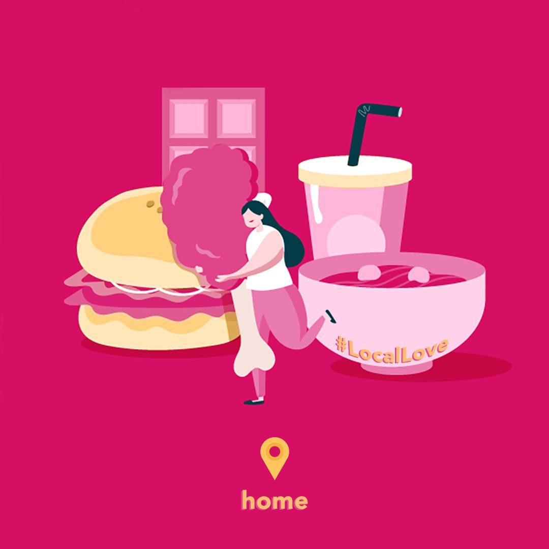 Show your #LocalLove, order in and stay home. 🏠💗 __ #foodora #StayHome #SupportLocal https://t.co/Yp0P6GyXMv