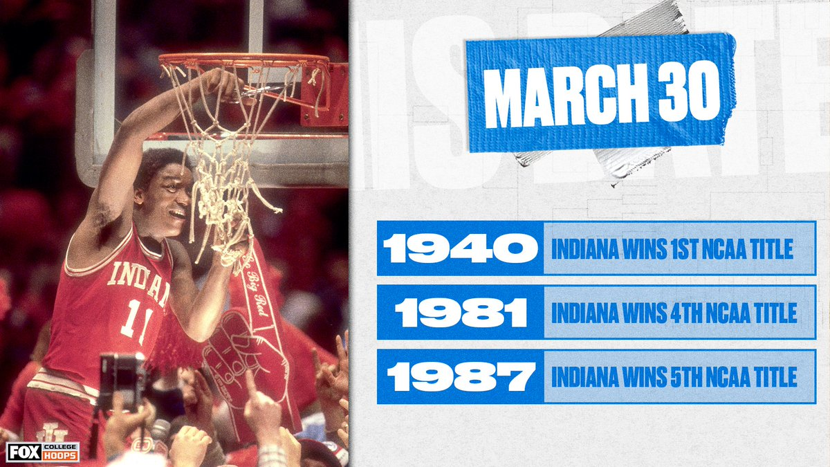 March 30 is a pretty good day in @IndianaMBB history 😅