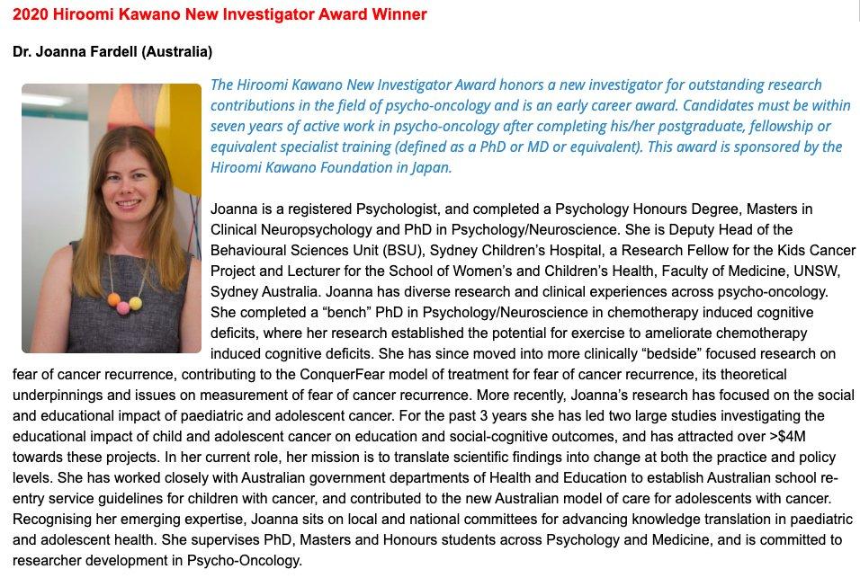Congratulations on your New Investigator Award @jefardell ! #kcamember @CMRI_AUS @KidsCancerInst @kids_research