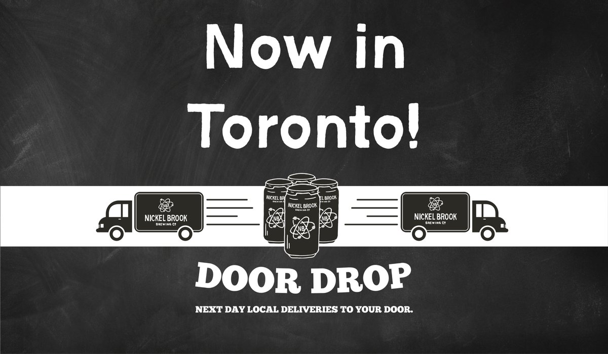 Hey #Toronto!   We've heard you loud and clear and were comin' your way. Yep, that's right, Door Drop contactless delivery by our very own Nickel Brook team.   Check out our new service areas and comment below with any questions or random banter… we're livin' online these days pic.twitter.com/cV2epa8oAg