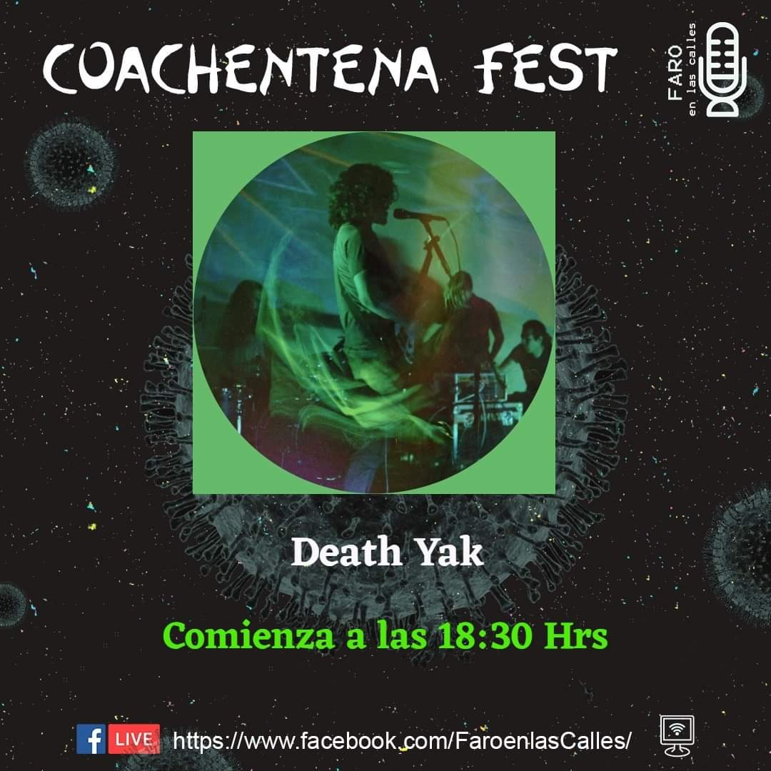 #CoachentenaFest tendremos metal de @death_yak desde pic.twitter.com/9Rqv70Av5c