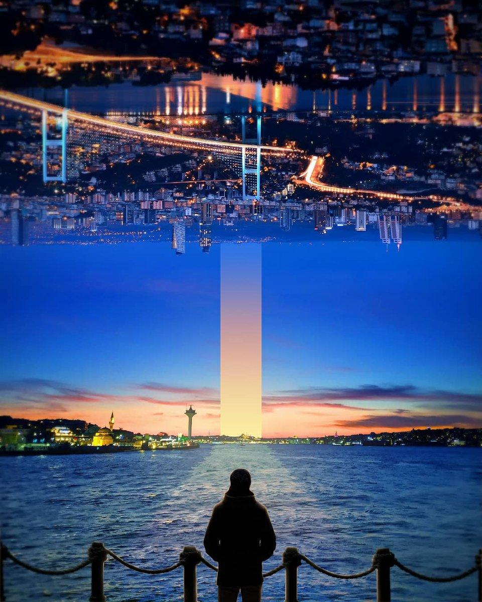 Seeing a very different sunset view in Istanbul City. •  #xceptionaledits #photooftheday #photoshopindonesia #digitalart #photomanipulation #simplycooldesign #creativemood  #digitalartwork #visualcreators #pr0ject_uno #thecreativers #photoshop_creative #photoshop #adobepic.twitter.com/5MlutIQKdU
