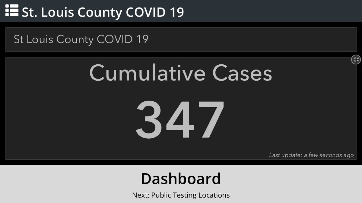 NEW: There are now 347 confirmed cases of COVID-19 (#coronavirus) in St. Louis County.
