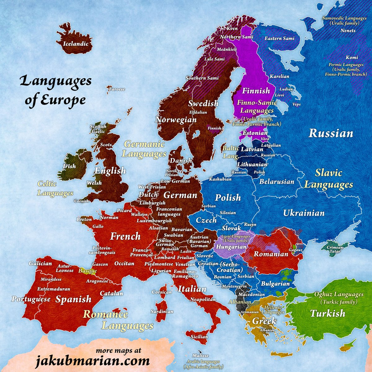 Ig it depends. Slavic languages can indeed resemble each other but that's not the case with eng vs German for example. Mine is baltic, 2 countries. Again, people say they catch a lot of phrases tbh pic.twitter.com/FfSbpVqsKh