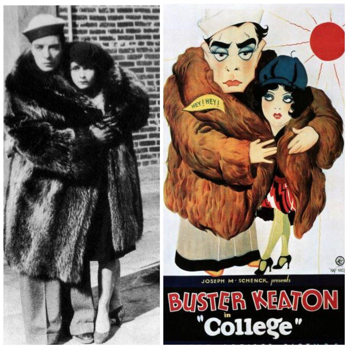 "Anne Cornwall and #BusterKeaton, ""College"", 1927.  #classichollywood #silentfilm #silentmovie #BusterLovepic.twitter.com/tL0stz36Rh"