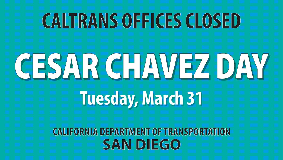 Image posted in Tweet made by Caltrans San Diego on March 31, 2020, 2:45 pm UTC