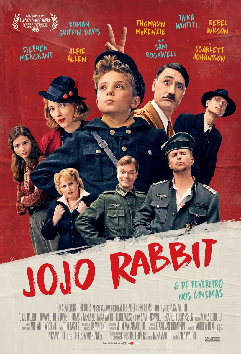 JoJo Rabbit - reasonably decent & funny as far as WW2 Nazi satires go,  certainly less tedious than many of the more dramatic efforts. Still, it's ultimately schmaltzy schlock.   Sam Rockwell is the highlight of the film as drunk & disaffected German Officer.