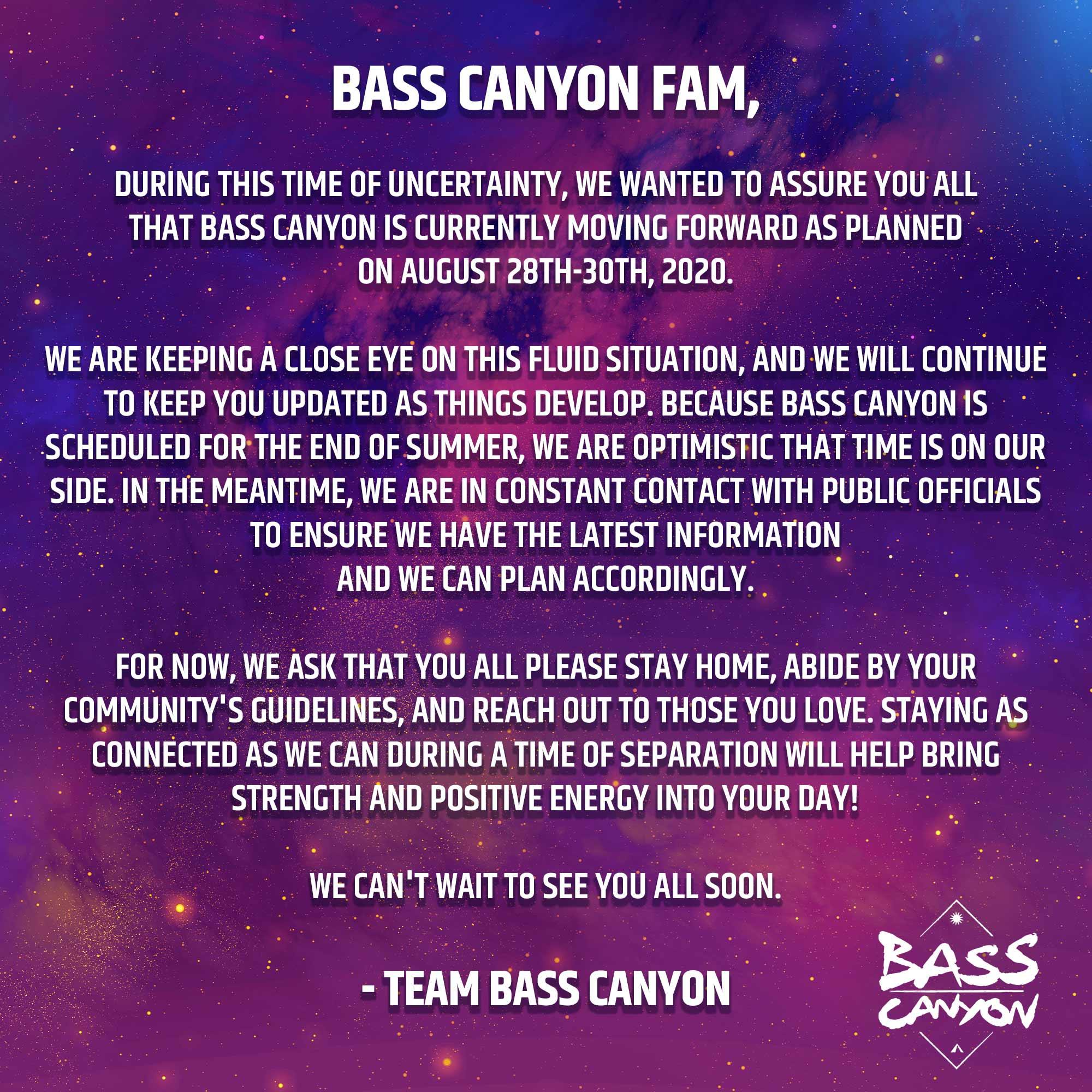 Bass Canyon 2020