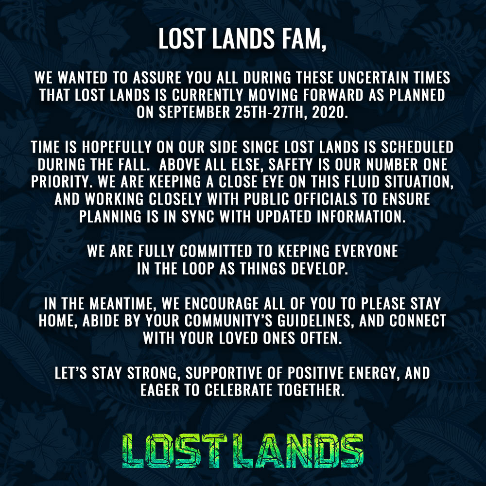 Lost Lands 2020 dates
