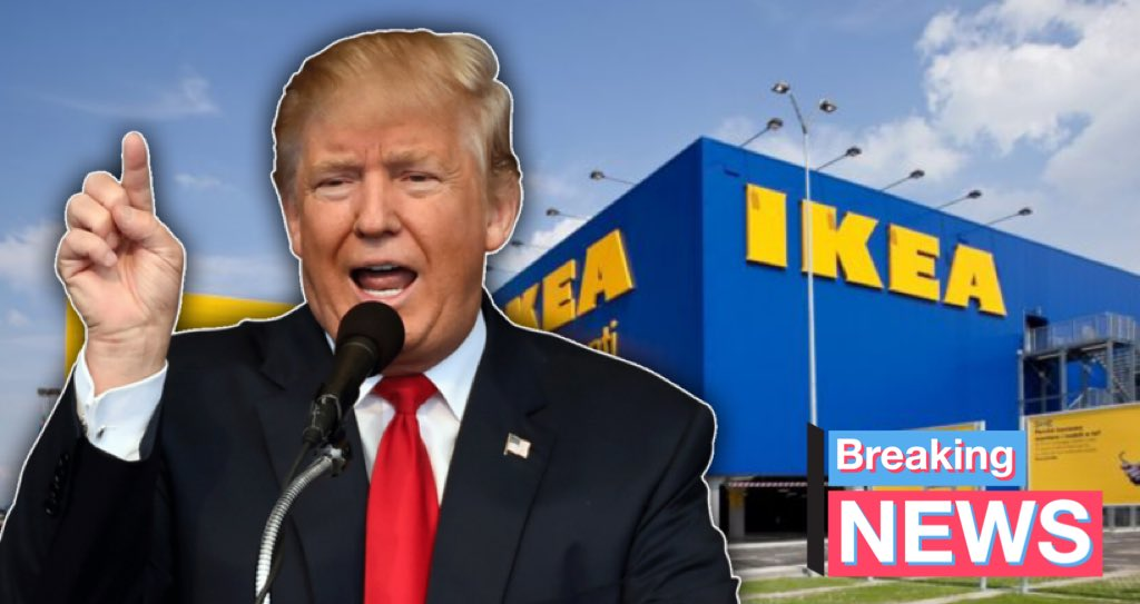 Report: Boastful President Trump claims there are only a few hundred people in South IKEA. #StopAiringTrump #Seoul pic.twitter.com/RG6X6KR1Wz