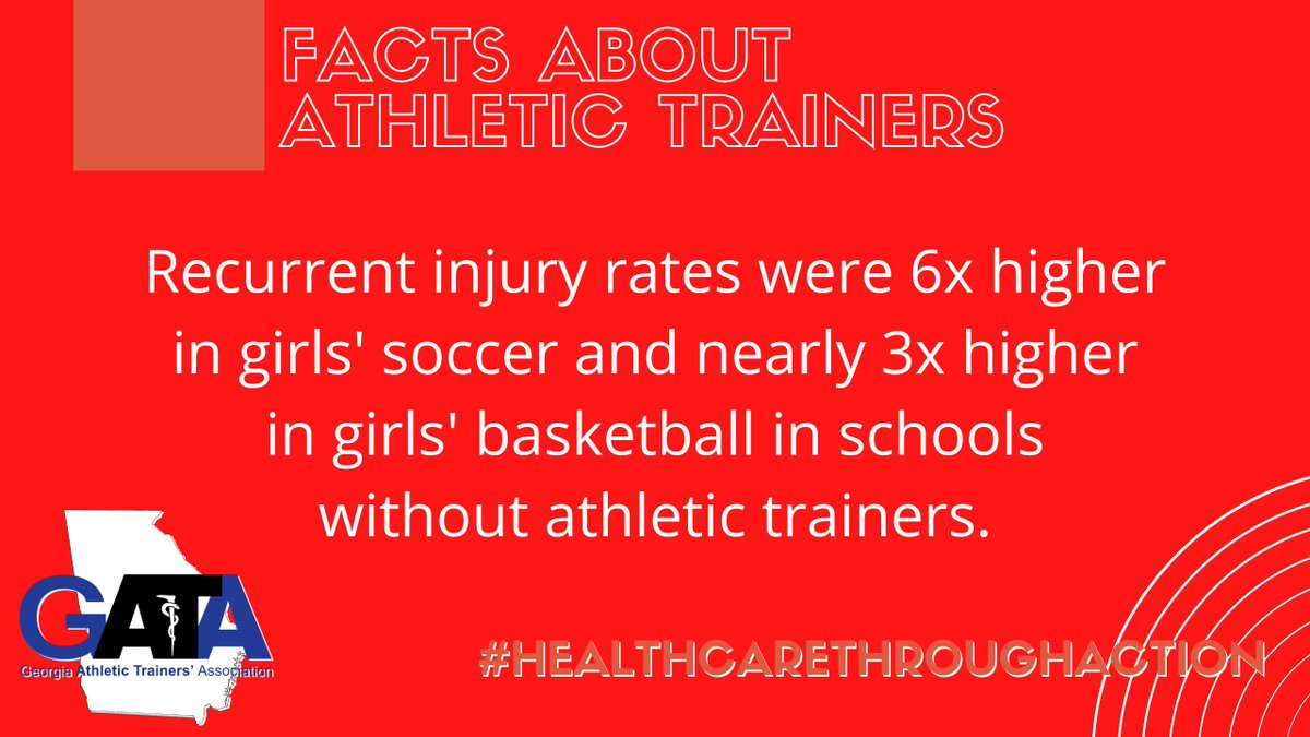 #DYK  Share these AT facts with anyone who needs to know - ATs keep recurring injury rates lower! #NATM2020  #HealthCareThroughAction  #gATa  #educATe  @NATA1950  @SEATA9  @D9LGBTQ  @gata_ypc  @AK_AthTrnAssoc  @ALATA_Inc  @My_MATA  @LATAincD9  @ATAF83  @TNATA  @KYATSociety  @SCATCs  @NCATA1974