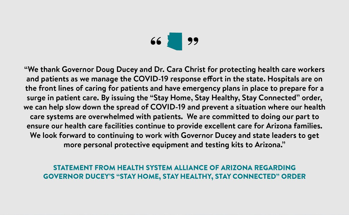 """.@HealthSystemsAZ on """"Stay Home, Stay Healthy, Stay Connected."""" #COVID19"""