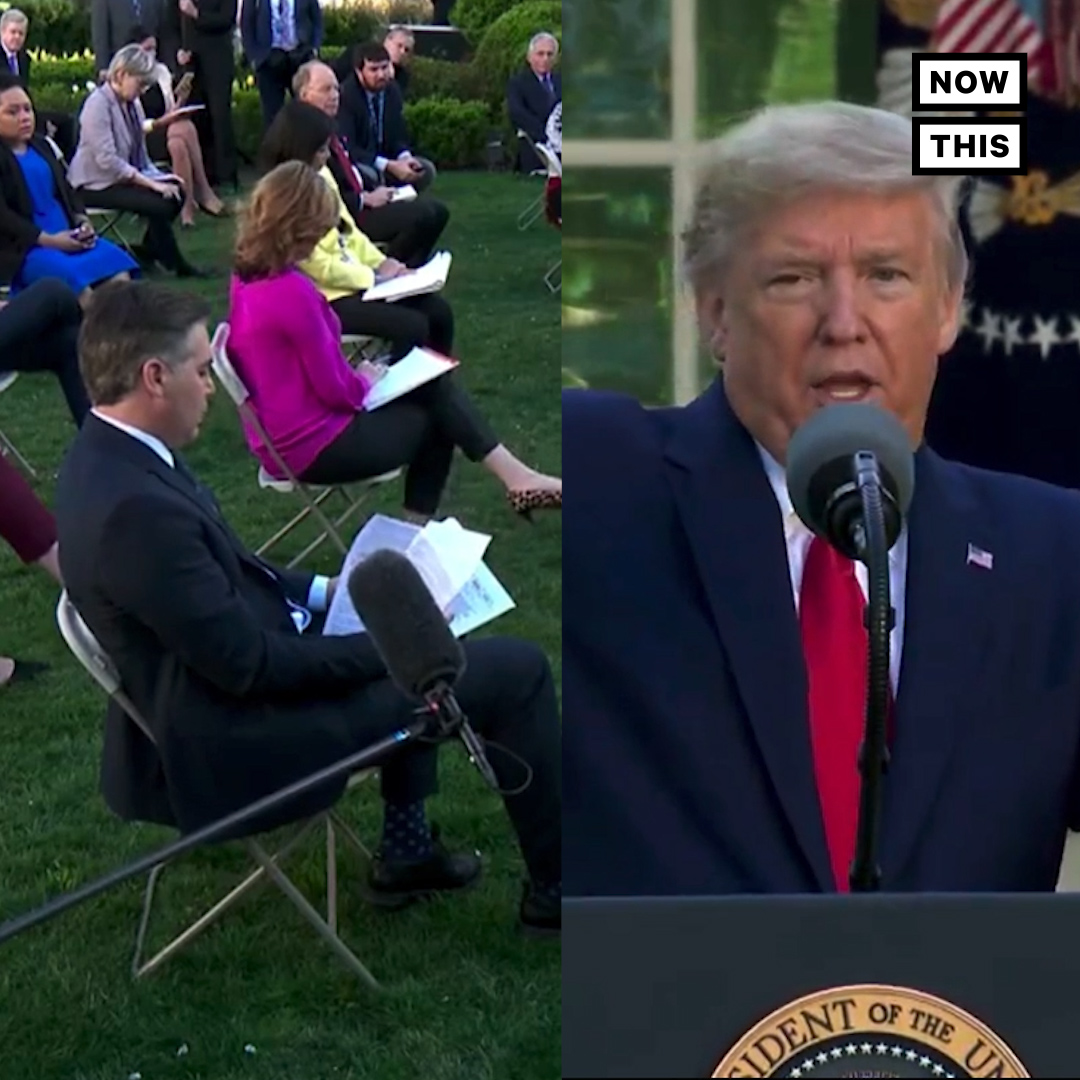 Pres. Trump denied downplaying the threat posed by COVID-19 in the U.S., calling Jim @Acosta's use of direct quotes 'snarky'