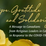 Image for the Tweet beginning: Hope, Gratitude and Solidarity -