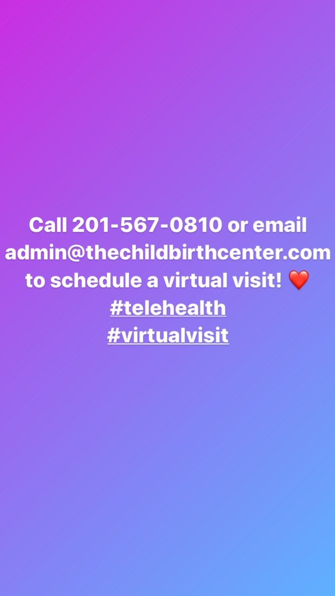 While our office is temporarily closed, you can still schedule a virtual visit with a midwife today! ❤️