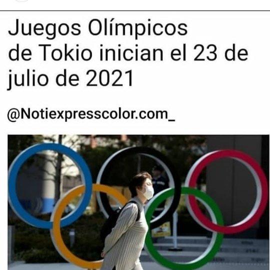 Los juegos Olimpicos Tokio se disputarían entre el 23 de julio y el 8 de agosto del año 2021, mientras que los paralímpicos quedarían pautados para empezar el 24 de agosto y hasta el 5 de septiembre de ese mismo año.  #NotiExpressColor  #JuegosOlimpicos #Deportes #Coronaviruspic.twitter.com/MVhTQiaOFY