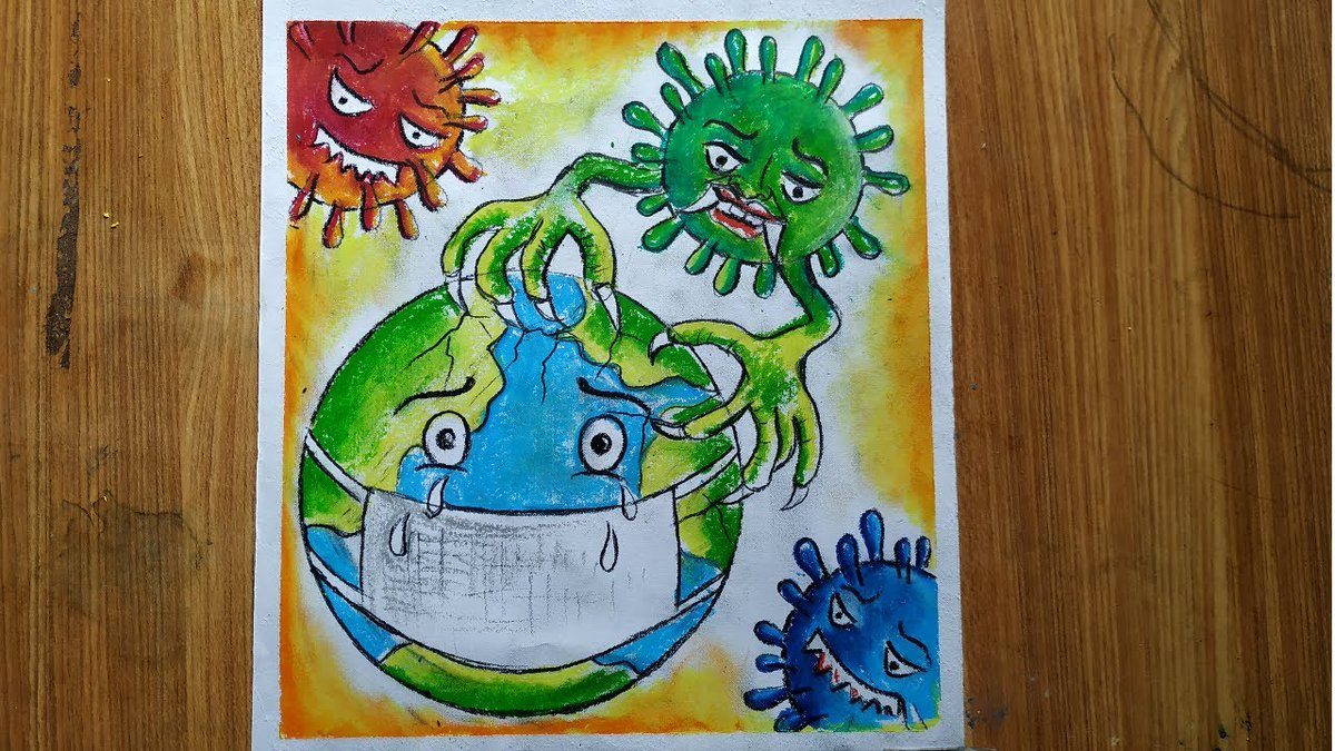 Pcgame On Twitter How To Draw Coronavirus Drawing Of Save Earth