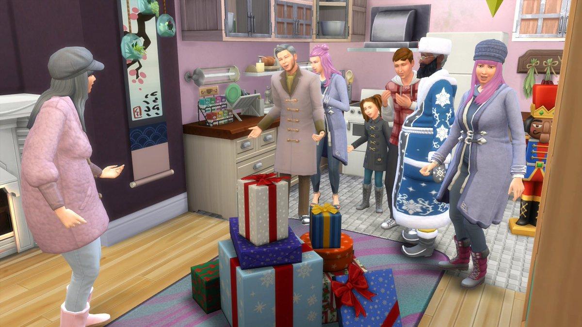 Une famille réunie pour fêter la fête de l'hiver :) Merci pour le super Micro-Onde dernier cri Père Hiver ! Va falloir que je trouve une place pour lui :) pic.twitter.com/w6tmugTL0K