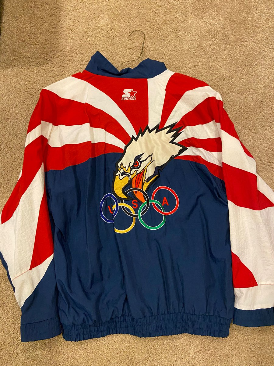 Also found this.... 1996 Olympic Starter Jacket #ATLANTA pic.twitter.com/kssNasZ1s2