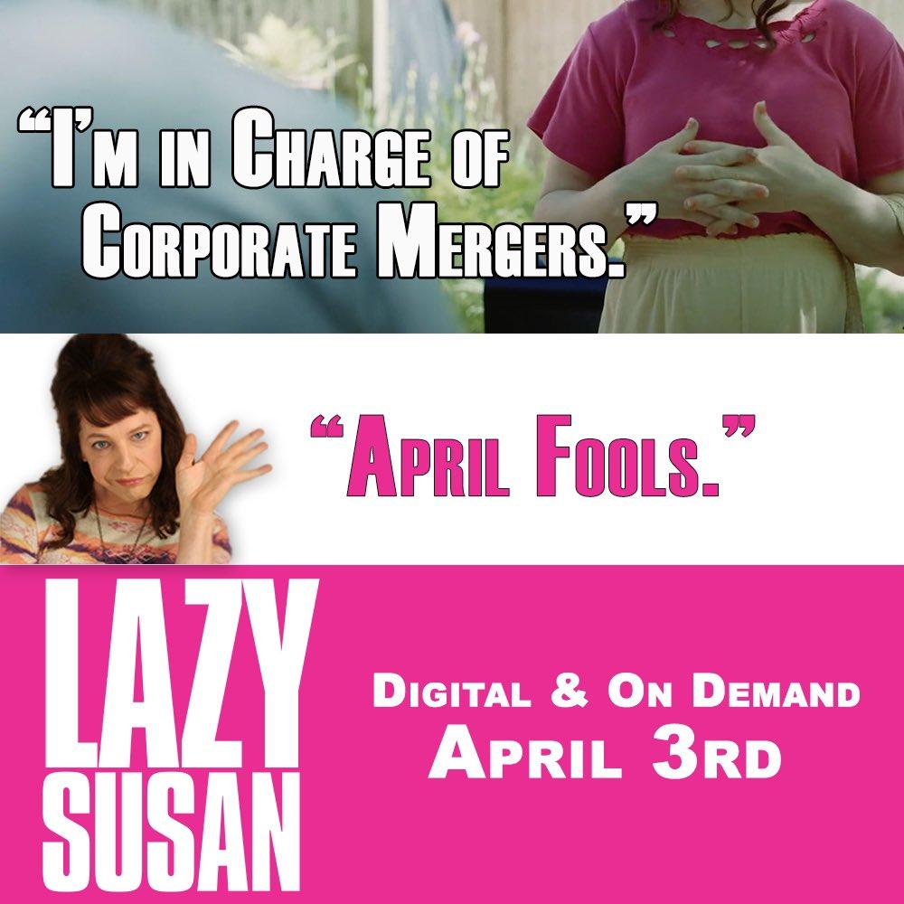 In 4 days. #LazySusanFilm