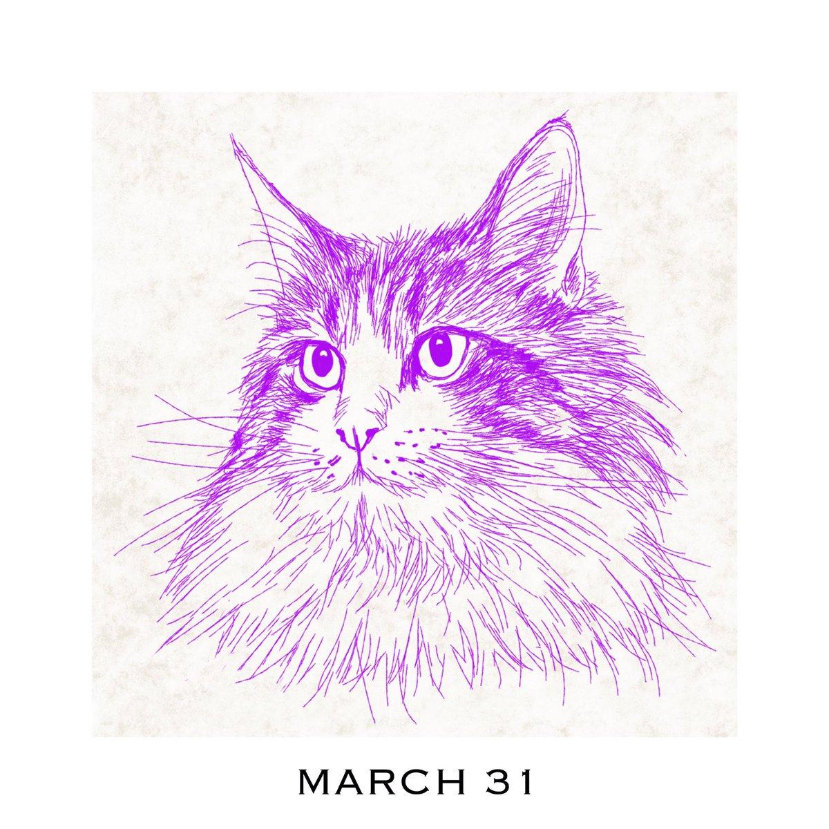 猫好きイラストレーター 365cat Art 3月31日 猫カレンダー 365catart Catscalendar 3月もう終わりにゃ 猫のフリーイラスト 配布中 T Co 1lhrrxj5af 猫好きさんと繋がりたい 猫 ねこ 猫似顔絵 猫イラスト 猫イラストレーター 猫