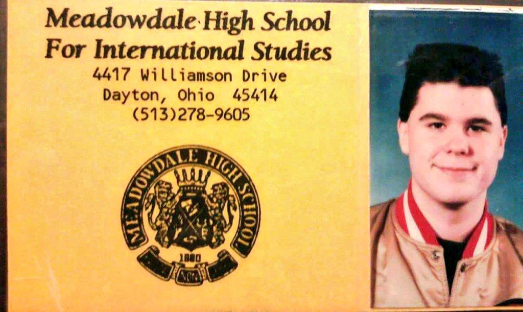 Hey, found my high school ID again 😅 yes I still wear the jacket.