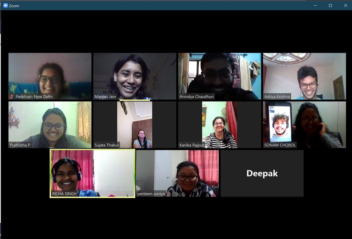 """Manjari Jain on Twitter: """"All hands meeting over zoom for #BEL @IiserMohali  All were in cities, yet, two couldn't join (one probably just slept off).  In India reliable internet is still not"""