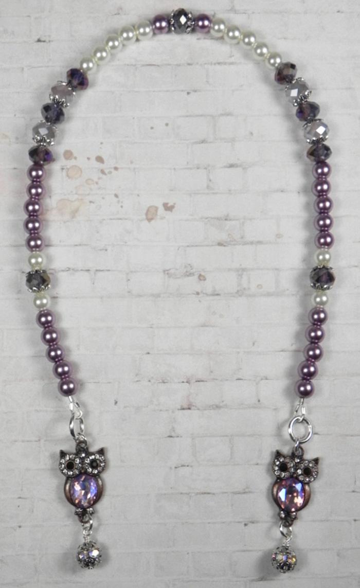 Crystal Owl Glass Pearl Rhinestone Handmade Beaded Bookmark Purple Ivory New  @eBay #gifts #handmadewithlove #shopsmall #buyhandmade