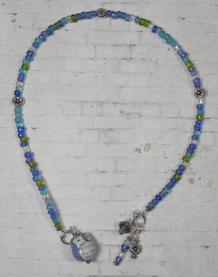 Owl Ceramic Silver Flower Seed Bead Handmade Beaded Bookmark Blue Turquoise New  @eBay #gifts #shopsmall #buyhandmade #handmadebyme