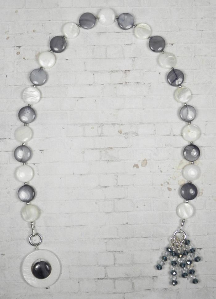 Shell Crystal Seed Bead Handmade Beaded Bookmark White Blue New  @eBay #gifts #handmadewithlove #shopsmall #buyhandmade