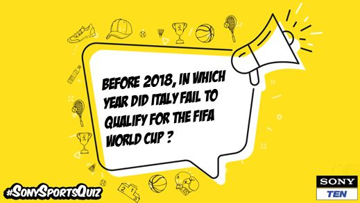 #Azzurri  have won  #FIFAWorldCup titles in their history  but have failed to qualify thrice in the past.   #SonySportsQuiz #SonySports #Sports #Quiz #Football #Italy #FIFA #WorldCup #ContestAlert #Contest #Indiapic.twitter.com/TxL7Psan7L