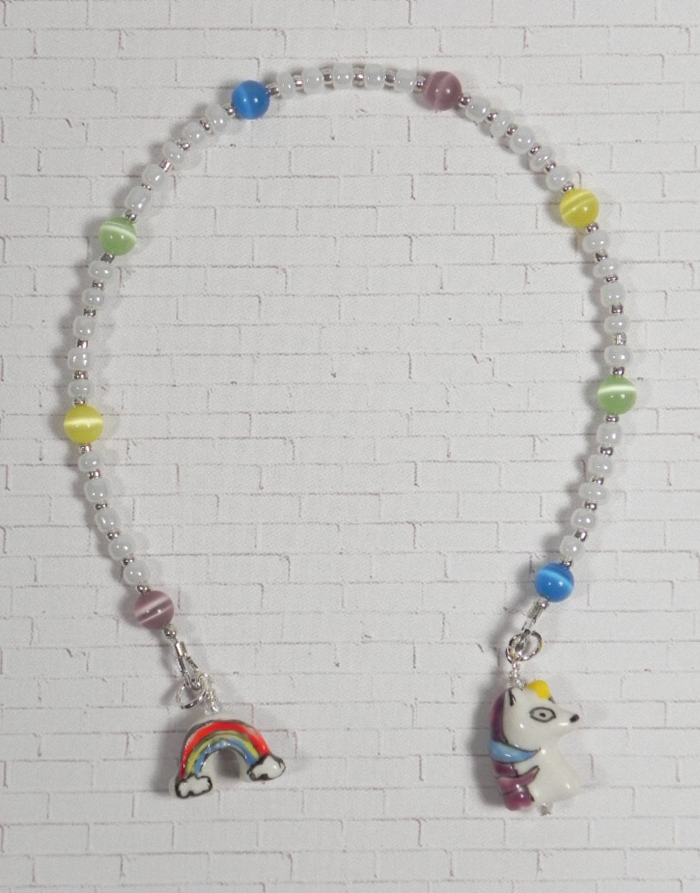 Unicorn Rainbow Cat Eye Seed Bead Handmade Beaded Bookmark Kid Child White New  @eBay #shopsmall #gifts #giftidea #buyhandmade #handmadebyme #handmadewithlove