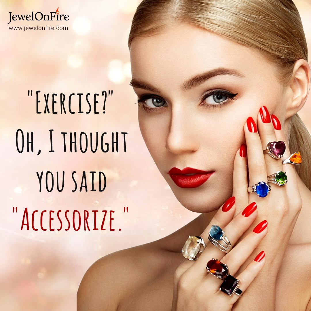 Raise your hand if you're skipping the at-home workout trend 🙋  #jewels #jewelry #women #gift #jewelrylover #jewelryshop #jewelrylove #jewelrystore #jewelrydesign #sale #savings #JOF #JewelOnFire