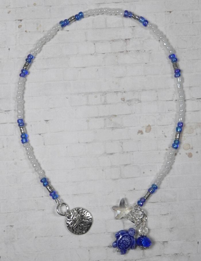 Turtle Ceramic Silver Flower Seed Bead Handmade Beaded Bookmark Blue White New  @eBay #handmadewithlove #shopsmall #buyhandmade