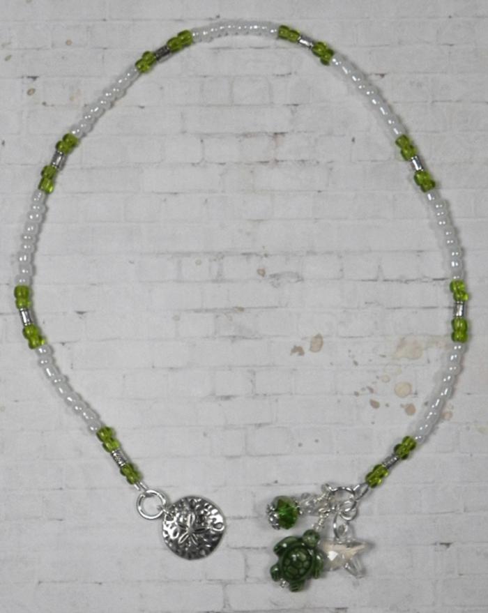 Turtle Ceramic Silver Flower Seed Bead Handmade Beaded Bookmark Green White New  @eBay #handmadewithlove #shopsmall #buyhandmade