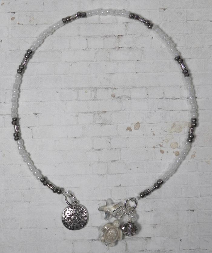 Turtle Ceramic Silver Flower Seed Bead Handmade Beaded Bookmark Sand White New  @eBay #handmadewithlove #shopsmall #buyhandmade