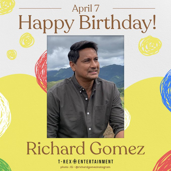 Today, April 7, is the 54th birthday of Richard Gomez!   Happy birthday, Goma!