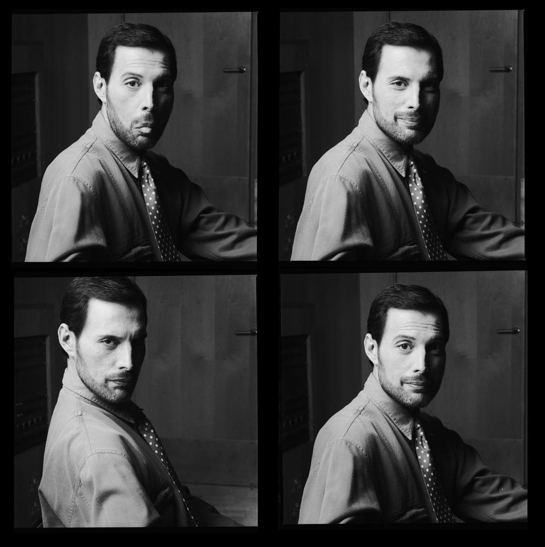 """Shot this Portrait of Freddie at The Power House where Metropolis Studios is. Queen were shooting their video Headlong in 1991. Fred always liked to mess about in front of camera. It was in his nature😀...""   📸 @simonfowler54 https://t.co/8isgGEmN6D"