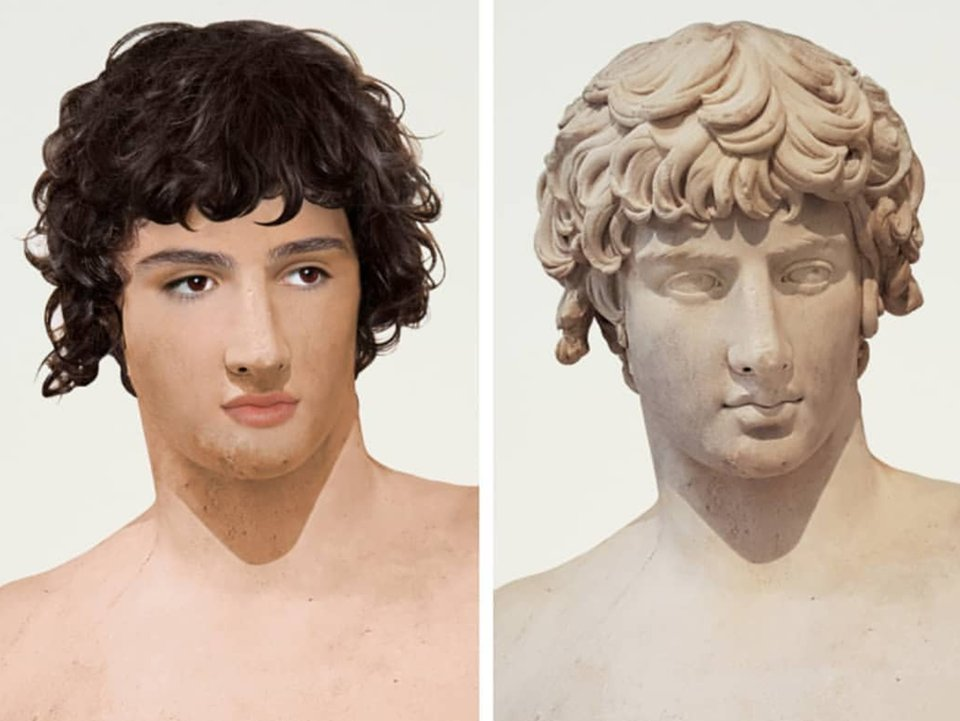 """#Antinous #Patras #Athens reimagined by #VeraMayantal. Were #Antinoos and #Hadrian really """"gay"""" in the modern sense? Scholars quibbled until 2008 when @britishmuseum #curator #ThorstenOpper declared: """"Hadrian was #gay, and we can say that now."""" More: http://antinousgaygod.blogspot.com/2020/04/antinous-is-god-of-gays-but-was-he-gay.html…pic.twitter.com/SGINDUmsCx"""