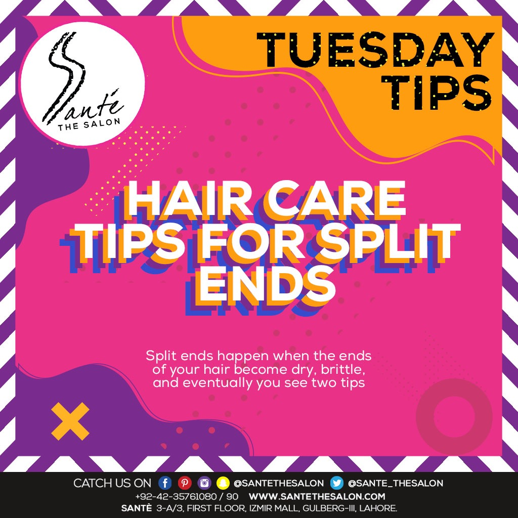 T U E S D A Y  T I P S  It's tuesday & santé is here with some hair care tips for SPLIT ENDS  Follow these tips to achieve gorgeous & healthy looking hair #sante #santethesalon #tuesdaytips #tipsforhair #splitends #covid_19 #positivevibes https://www.instagram.com/p/B-rcHkgpKC9/?igshid=1dy8lc0652tlj …pic.twitter.com/okURh5hRsK