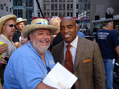 Happy 45th birthday Tiki Barber! This was at the TODAY Show in NYC!