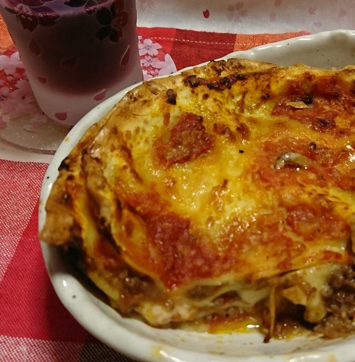 お取り寄せしたペスカトーレさん(@tairantooo)のラザーニャ。冷凍で届いて、解凍して焼くだけ✨美味しい。゚(゚´Д`゚)゚。丁寧な食べ方までついてて、ありがたいです。