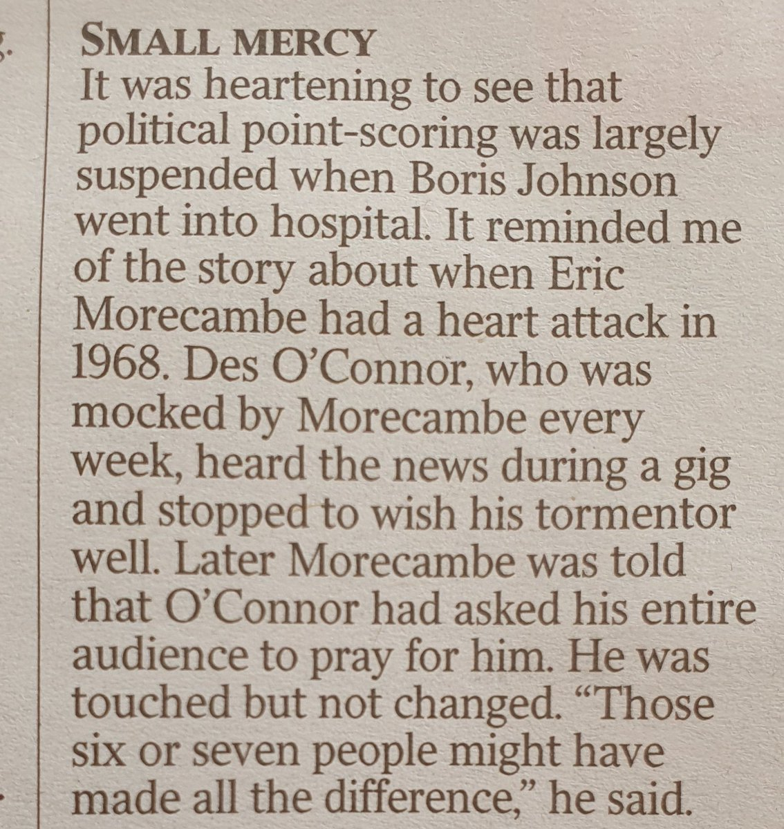 I really love this from the @TimesDiary today. https://t.co/vndivekHiR