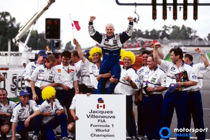 Happy 49th birthday to most recent world champion - Jacques Villeneuve!