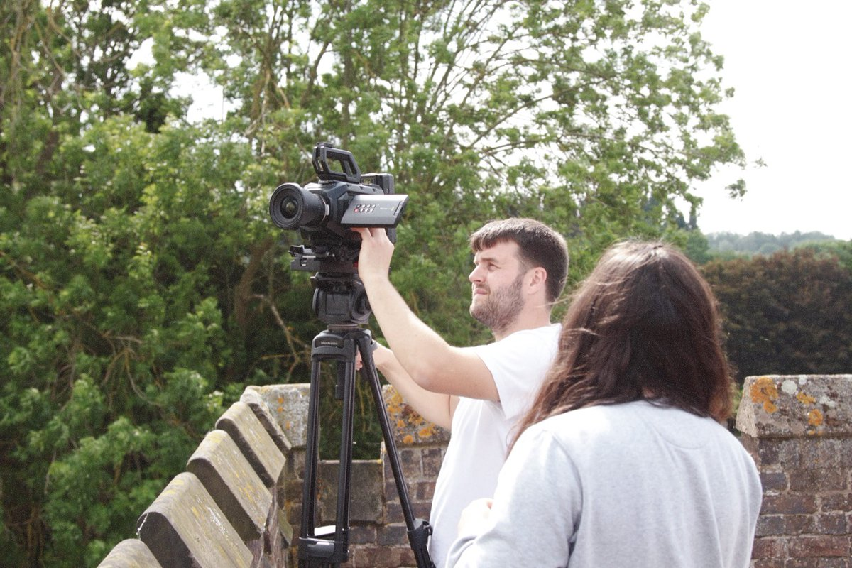 We're like medieval archers, only other than a camera we gotta camera! #videoproduction #nottingham