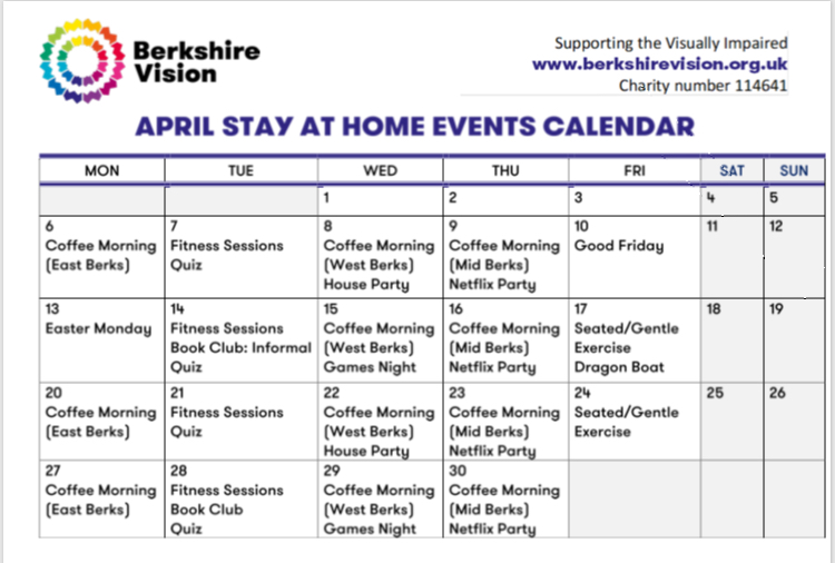 @berkshirevision launched its Remote Activities Programme. You don't need to have an internet connection and can simply dial in from any phone. See the calendar of events and find more details here https://t.co/41ldKnrNCG