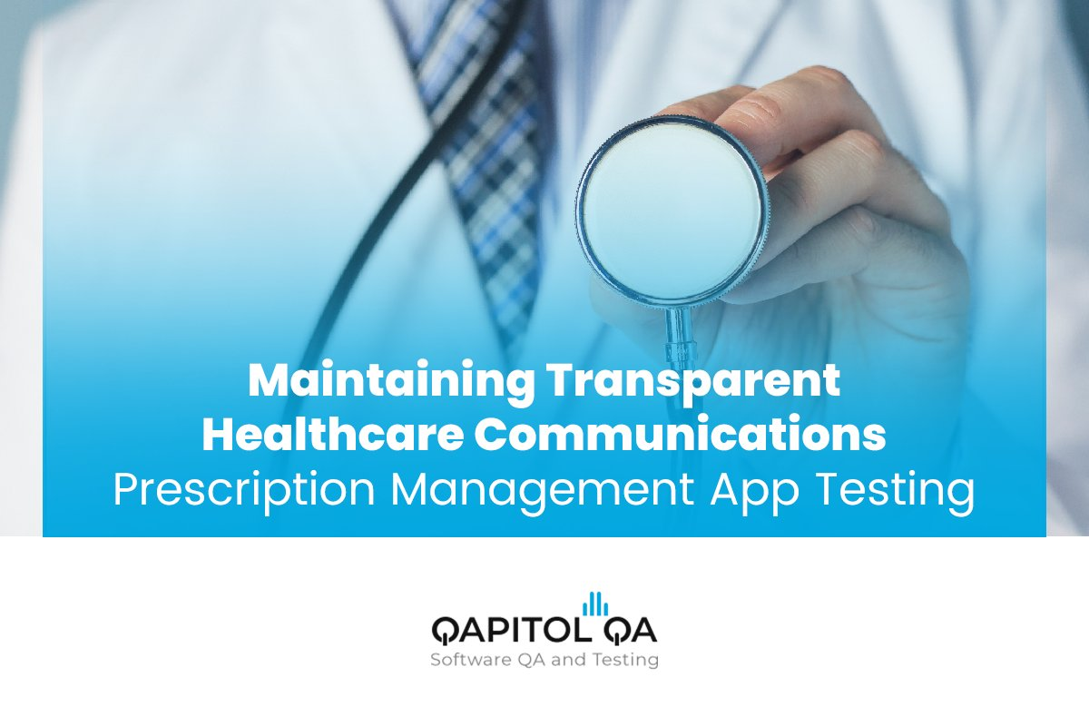 Maintaining transparent healthcare communications through a well tested prescription management app.  Access our case study: https://lnkd.in/fuVvqww  #healthcare #testingservices #mobiletechnology #productstrategypic.twitter.com/F8g7N6jf7T